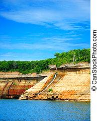 Pictured Rocks Bridalveil Falls Michigan