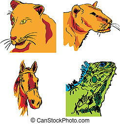 pictures of animals vector