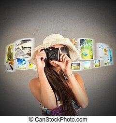 Pictures of landscapes visited