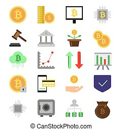 Pictures set of different symbols of finance and business....