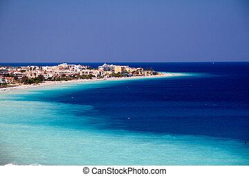 Picturesque beach on Rhodes