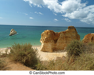 Picturesque beaches of the Algarve in Portugal