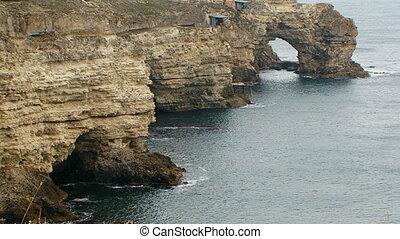 Picturesque Black Sea Coast Of Cape Tarkhankut in Crimea