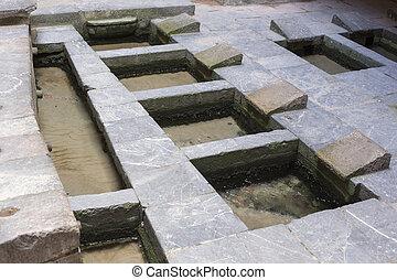 wash basins in Cefalu, Sicily, Italy
