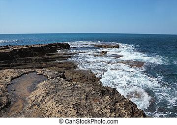 Picturesque coast of Mediterranean sea