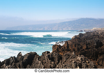 Picturesque coast of the Atlantic ocean