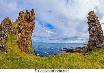 Picturesque coast