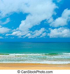 Picturesque coast sea