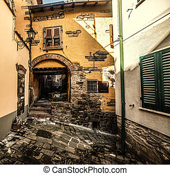 Picturesque corner in a small town in Tuscany