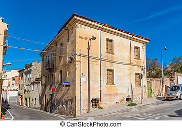 Picturesque corner in Nuoro on a sunny day