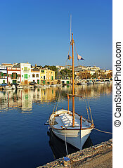Porto Colom - Picturesque fishermen village in Porto Colom...