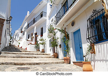 picturesque Frigiliana- one of beautiful white towns in...