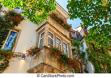house facades in the old town of Strasbourg, France