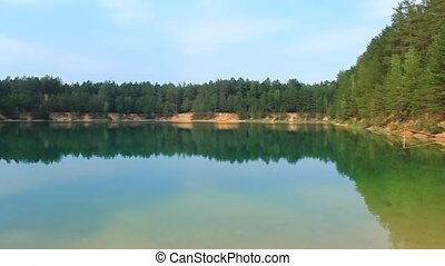 Picturesque lake in the forest