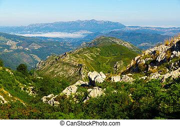 Picturesque landscape of Picos de Europa