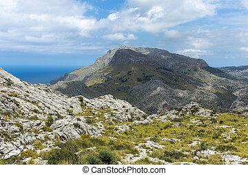 landscape of Sierra de Tramuntana, Mallorca, Spain