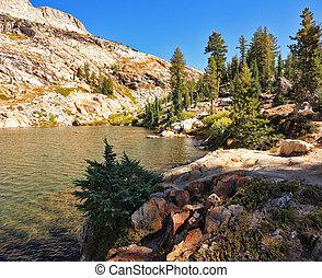 Picturesque mountain lake