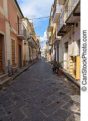 Picturesque narrow street in town of Pizzo
