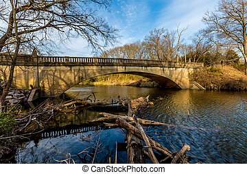 Picturesque Old Bridge in Oklahoma