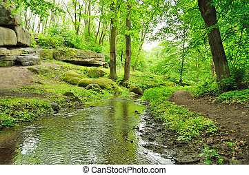 picturesque park - picturesque bend of the river in an...