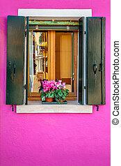 Picturesque pink window
