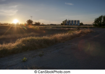 Picturesque rural landscape in California