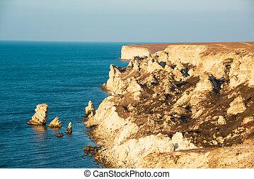 Picturesque sea landscape. Black sea, Crimea
