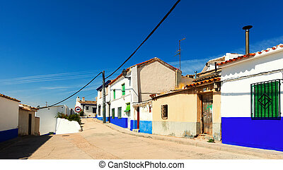 Picturesque street of Campo de Criptana