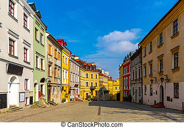 Picturesque streets of the city Lublin. Poland