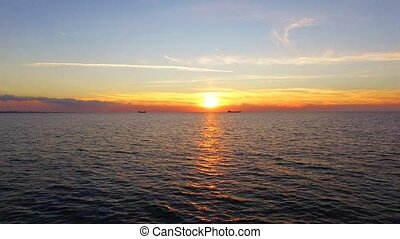 Picturesque Sunset Over The Black Sea in Crimea