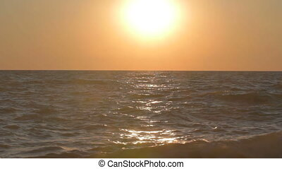 Picturesque sunset over the sea
