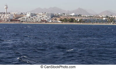 picturesque trip along the coastline and hotels in Red Sea