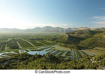 Picturesque valley in Croatia