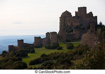 Picturesque view of Spanish Castillo de Loarre