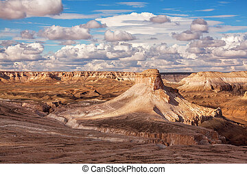 Picturesque view of Ustyurt Plateau in Kazakhstan.