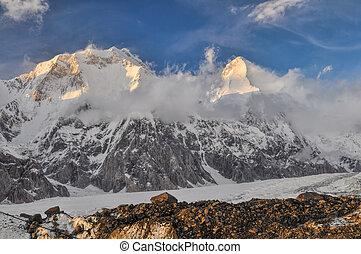 Kyrgyzstan - Picturesque view Tian Shan mountain range in ...
