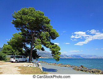 Picturesque viewes of nature in summer Croatia