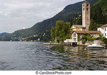 Picturesque village at the shores of lake Como, Italy