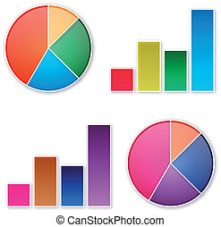chart - pie and bar business chart in vector
