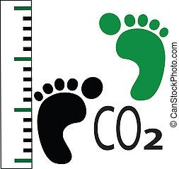 pie, carbón, impresión