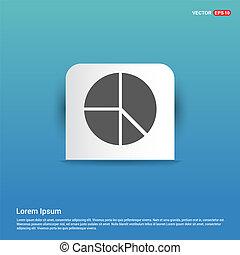 Pie chart - Blue Sticker button