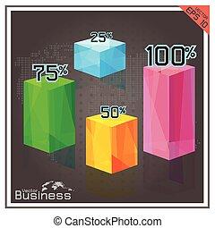 pie chart business button number percent map world