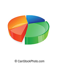 pie chart - illustration of vector pie chart on an isolated...
