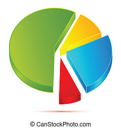 Pie Chart - illustration of pie chart on white background