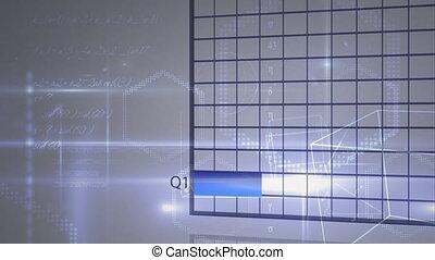 Pie chart, histogram, bar chart, and graph