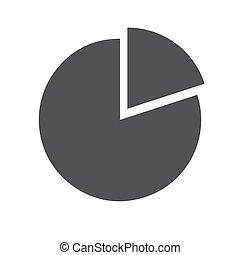 Pie chart icon (flat design)