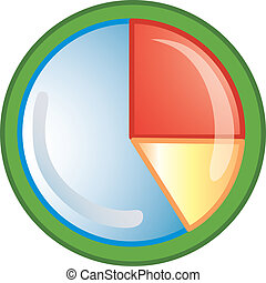 Pie chart icon or symbol
