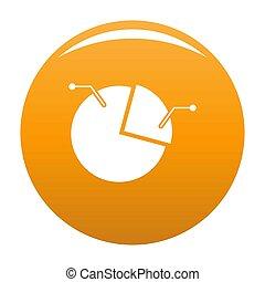 Pie chart icon orange