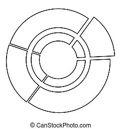 Pie chart icon, outline style