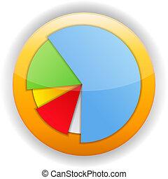 Pie Chart Icon - Pie chart icon, vector eps10 illustration